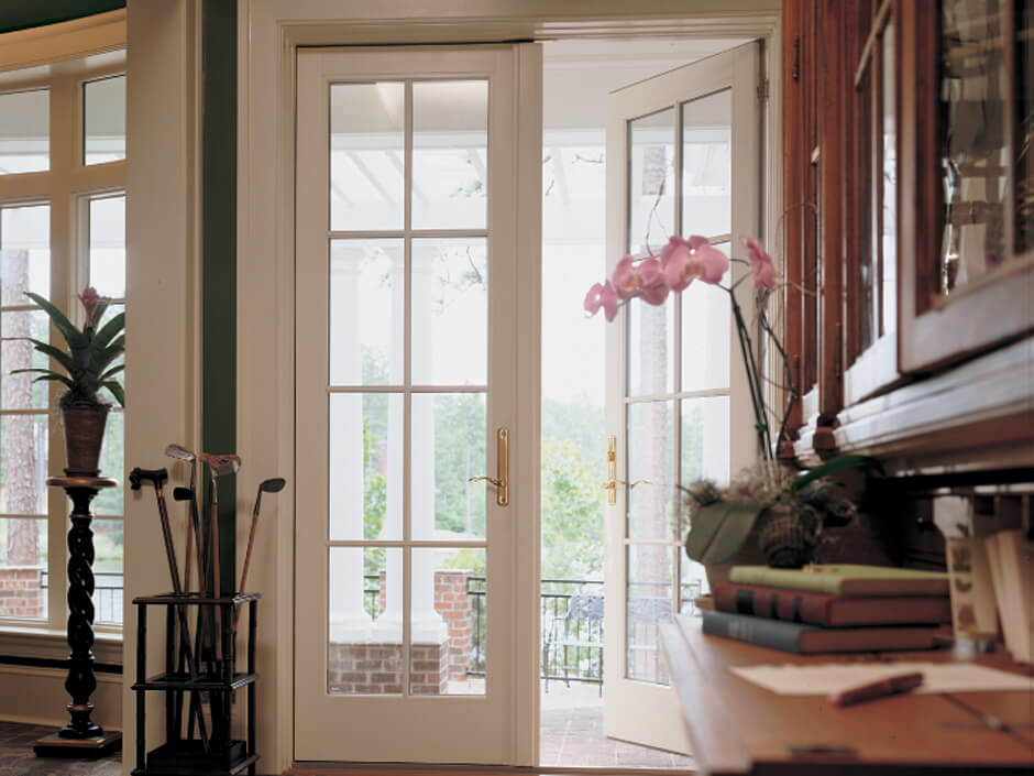Hinged Frenchwood Patio Doors Open ...